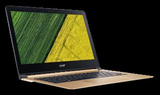 "NB Acer Swift 7 SF713-51-M0WN/13.3"" IPS Full HD CineCrystal/ Intel® Core™ i7-7Y75 (4MB Cache, up to 3.60 GHz)/1x8GB DDR3/ 512GB SSD/ Intel® HD Graphics 615/ Keyboard backlight /Finger Print/ Windows 10 / Shale Black / Подарък кабел Acer USB-C / USB-A cabl"