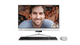 """Lenovo IdeaCentre AIO 520s 23"""" IPS FullHD i3-7100U 2.4GHz, 4GB DDR4, 1TB 2.5"""", WiFi, BT, FHD cam, Silver, Win 10 + Wireless keyboard and mouse"""