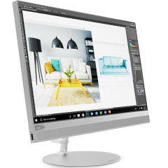"""Lenovo IdeaCentre AIO 520 21.5"""" IPS FullHD i5-7400T up to 3.0GHz QuadCore, 8GB DDR4, 1TB 3.5"""" + free PCIe slot, DVD, WiFi, BT, FullHD cam, Silver"""