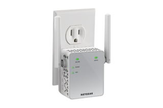 Аксес пойнт, Netgear EX3700, AC750 DUAL BAND (300 Mbps+450 Mbps), 1 x 10/100 Port, Range extender & Acces Piont, 2 external antennas