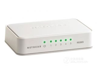 Суич Netgear FS205, 5 x 10/100 Fast Ethernet Switch (plastic case)