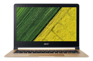 "РАЗПРОДАЖБА! NB Acer Swift 7 SF713-51-M752/13.3"" IPS Full HD CineCrystal/ Intel® Core™ i5-7Y54/1x8GB DDR3/ 256GB SSD/ Intel® HD Graphics 615/ Keyboard backlight/Finger Print/ Windows 10 / Shale Black / Подарък кабел Acer USB-C / USB-A cable"
