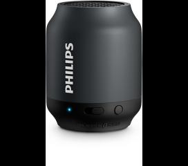 Philips Bluetooth безжична портативна колонка, акумулаторна батерия 2 W, цвят: черен