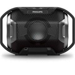 Philips Bluetooth безжична портативна колонка с динамични светлини, цвят: черен