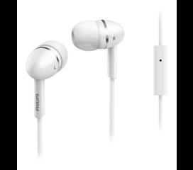 Philips слушалки с микрофон за поставяне в ушите, цвят бял
