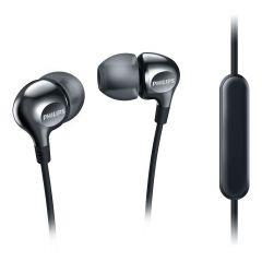 Philips слушалки с микрофон за поставяне в ушите, черен цвят