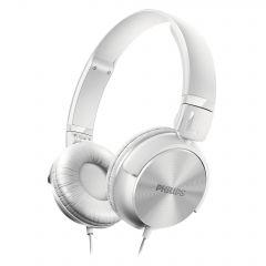 Philips слушалки с лента за глава, цвят бял