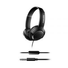 Philips слушалки с микрофон, цвят: черен