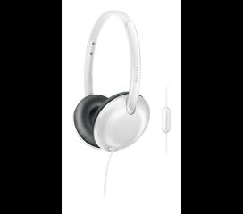Philips Слушалки с микрофон 32 мм мембрани/затворен гръб, с наушници, меки възглавнички за уши, плоско сгъване, цвят бял