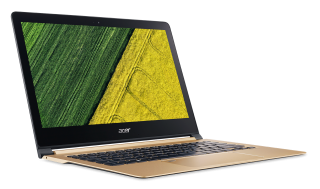 "NB Acer Swift 7 SF713-51-M752/13.3"" IPS Full HD CineCrystal/ Intel® Core™ i5-7Y54/1x8GB DDR3/ 256GB SSD/ Intel® HD Graphics 615/ Keyboard backlight/Finger Print/ Windows 10 / Shale Black / Подарък кабел Acer USB-C / USB-A cable"