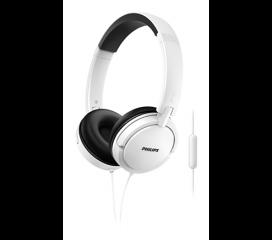 Philips Слушалки с микрофон, цвят бял