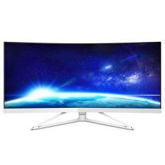 """Philips 34"""" Ultrawide WQHD (3440 x 1440) Curved monitor, 4ms, 300 cd/m2, 2 x HDMI, DP, 4 x USB3.0, Speakers 2 x 5W"""