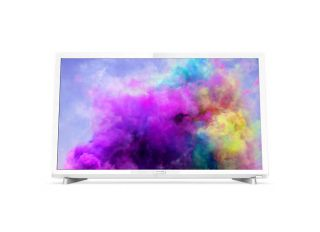 "Philips 24"" FHD TV, DVB T/C/T2/T2-HD/S/S2,  Incredible Surround, Clear Sound, 6W,  Бял"