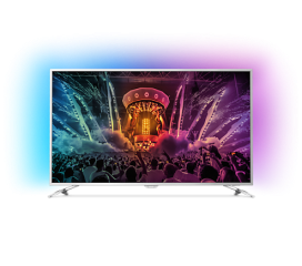 "Philips 49"" UHD, DVB-T2/C/S, Android TV, Ambilight 2, Pixel Precise UHD, Quad core, 1800 PPI, DTS Premium Sound, 20W, RC with keyboard, Silver"