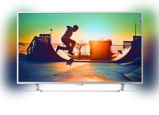 "Philips 55"" UHD, New model 2017 Android TV, Ambilight 2, HDR+, Pixel Plus UHD, Quad core, 900 PPI, 16 GB Internal memory, expandable, RC Keyboard, Micro Dimming Pro, DVB-T2/C/S2, DTS Premium Sound, 20W,  Silver"