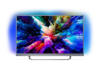 "Philips 55"" UHD,  DVB T/C/T2/T2-HD/S/S2 , Android TV, Ambilight 3, Ultra, Micro Dimming Pro, 1700 PPI, DTS-HD Premium Sound 25W,  Silver"