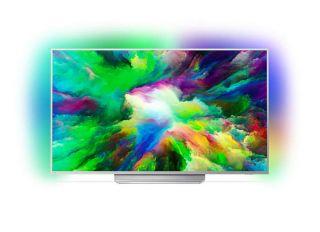 "Philips 55"",UHD 4K ултратънък телевизор, Android ,Quad Core, 16 GB, Ambilight 3, P5 Perfect Picture, Micro Dimming Pro,1700PPI, DTS-HD Premium Sound, 20W, DVB T/C/T2/T2-HD/S/S2"