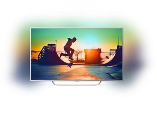 "Philips 65"" UHD, DVB-T2/C/S2, Android TV, Ambilight 3, HDR+, Pixel Plus UHD, Quad core, 900 PPI, 16 GB Internal memory, expandable, RC Keyboard, Micro Dimming Pro,2x HDMI 2.0 + 2x HDMI 1.4, 1x USB3.0 + 2x USB2.0, DTS Premium Sound, 20W,  Silver"