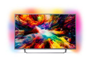 "Philips 65"" UHD, DVB T/C/T2/T2-HD/S/S2, Android TV, Ambilight 3, HDR+, Perfect Picture, Quad core, 1600 PPI, 16 GB , Micro Dimming Pro, DTS Premium Sound, 20W,  Silver"