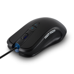 Mишка AULA SI-960 Ogre Soul Expert Gaming mouse Optical, Adjustable DPI 800/1200/1600/2000, infrared, 7 Buttons, 500-1000Hz return rate, двоен режим на работа, позлатен USB,wired, Black