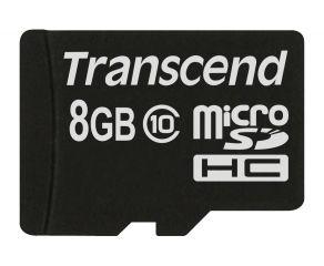 Памет Transcend 8GB microSDXC/SDHC Class 10 (Premium) (NoBox & Adapter)