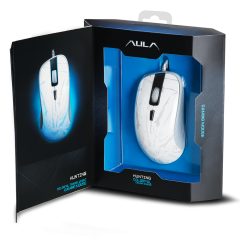 Mишка AULA SI-9003 Hunting Gaming Mouse Optical, Adjustable DPI 1000/2000/3000/4000, 4 Programmable buttons, 500Hz polling rate, 7 вида подсветка, Optical sensor with improved precision, USB,wired, White