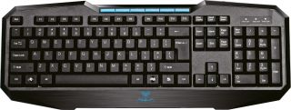 Клавиатура AULA SI-832/EN Adjudication expert gaming keyboard, лазерно гравирани символи, мултимедийни клавиши, ергономичен дизайн, 8 сменяеми клавиша,позлатен USB, Black, (EN)