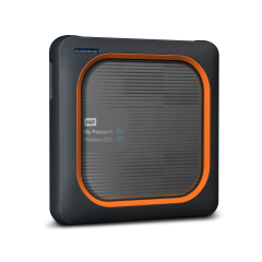 SSD WD My Passport Wireless 2TB,1 x USB 3.0, 1 x SD card slot, Built-in 802.11ac/n Wi-Fi, Gray