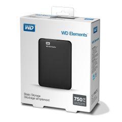 HDD 750GB USB 3.0 Elements Portable Black