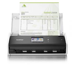 Document scanner BROTHER ADS1600W, 16 ppm 2-sided colour/mono scan, 20 page ADF, up to 1200x1200 dpi, 128 MB, One touch scanning, Hi-Speed USB 2.0, Scan direct to USB/FTP