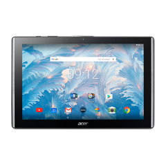 """Tablet Acer Iconia B3-A40-K5KE WiFi/10.1"""" IPS (HD 1280 x 800) MTK MT8167 Quad-Core Cortex A35 1.3 GHz/1x2GB/16GB eMMC, Cam (2MP front, rear 5 MP 1080p FHD)/G-sensor, Micro USB, microSD™, Android™ 7.0 (Nougat), Black (rear cover) /Black (front)"""