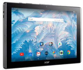 "Tablet Acer Iconia B3-A40-K0VD WiFi/10.1"" IPS (HD 1280 x 800), MTK MT8167 Quad-Core Cortex A35 1.3 GHz/1x2GB/32GB eMMC, Cam (2MP front, rear 5 MP 1080p FHD)/G-sensor, Micro USB, microSD™, Android™ 7.0 (Nougat), Black"