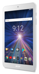 """Tablet Acer Iconia B1-870-K3F9 (White) WiFi/8.0"""" WXGA IPS HD (1280x800) 16:10/ MTK MT8167 quad-core Cortex A35 1.3 GHz/1GB/16GB eMMC/Cam 2.0 MP front, 5.0 MP rear/BT 4.0/GPS/G-sensor, Micro USB, microSD™/1-cell battery/Android™ 7.0 (Nougat)/White (rear co"""