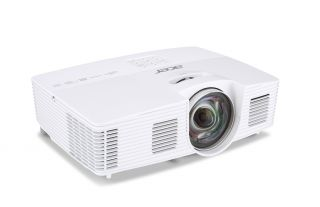 Projector Acer S1383WHne Short-Throw, DLP® 3D Ready, Resolution: WXGA (1280x800), Format: 4:3, Contrast: 13 000:1, Brightness: 3 200 lumens, Eco lamp life 8 000 hours, Input: 1 x HDMI, 1xComposite Video, 2xVGA, 1 x S-Video,1 x USB (Mini-B),1 x RJ45/LAN Po