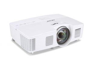 Projector Acer S1383WHne Short-Throw, DLP® 3D Ready, Resolution: WXGA (1280x800), Format: 4:3, Contrast: 13 000:1, Brightness: 3 200 lumens, Eco lamp life 8 000 hours, Input: 1 x HDMI, 1xComposite Video, 2xVGA, 1 x S-Video,1 x USB (Mini-B),1 x RJ45/LAN Po