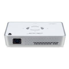 Projector PORTABLE Acer C101i, LED, Resolution: WVGA (854x480), max. 1080p FHD (1920x1080), Format: Native 16:9, Support 4:3, Brightness:150Lm; Contrast ratio 1200:1, HDMI, Wireless projection, Battery 2-hours; Speakers 1W, 30 000 h lamp life, 265g