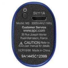 APC Mobile Power Pack, 3000mAh Li-ion cylinder, Blue
