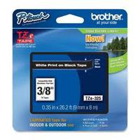TZ Tape BROTHER 9mm White on Black, Laminated, 8m lenght, for P-Touch