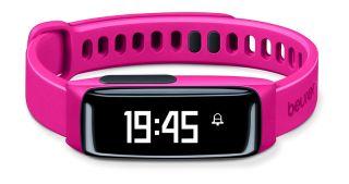 Beurer Фитнес гривна -  Bluetooth®, HealthManager App, следи дневните активности (брой изминати крачки, изминати километри, изразходвани калоирии ) и качеството на съня, цвят розов