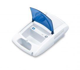 Beurer Инхалатор с накрайник за уста, накрайник за нос, маска за възрастни, детска маска - За лечение на горната и долната част на дихателната система, обем на пулвелизация (0,3 ml/min)