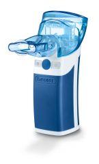 Beurer Ултразвуков инхалатор с накрайник за уста, маска за възрастни и маска за деца - изключително бърз ефект при вдишване на частиците, за лечение на горната и долната част на дихателната система, обем на пулвелизация (0,25 ml/min)