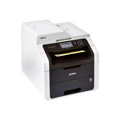 Color LED Multifunctional BROTHER MFC9140CDN, Printer 22 ppm single pass 2400x600dpi, Copier 22 ppm 600x600 ADF, CIS Scanner 1200x2400dpi, Fax 33.6kbps SuperG3, 192 MB, PCL6 BRScript3, Network, Duplex