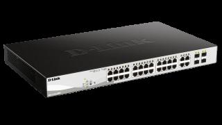 28-Port Gigabit PoE+ Smart Switch including 4 SFP Ports
