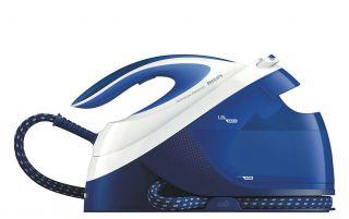 Philips Парогенератор PerfectCare Performer Макс. налягане на помпата 6, 5 бара, До 390 г, парен удар, SoftGrip, 1, 8 л подвижен воден резервоар