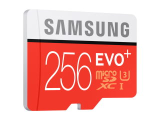Samsung MicroSD card EVO+ series with Adapter, 256GB , Class10, UHS-3 Grade1 , Speed Read 95MB/s,Speed Write 90MB/s