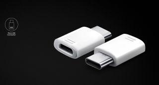 Samsung USB Type C to Micro USB Adapter, White
