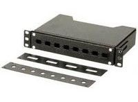"Fornt panel for 10"" FO splice-box 8 SC"